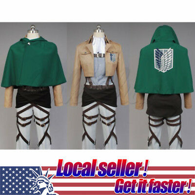 Titans Costume (HOT NEW Attack on Titan Shingeki no Kyojin Levi Scouting Legion Cosplay)
