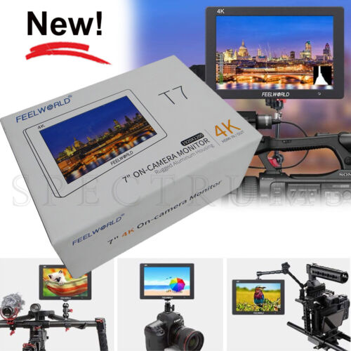 """FEELWORLD T7 7"""" DSLR On-Camera Monitor 4K HDMI In/Out, Aluminum Housing"""