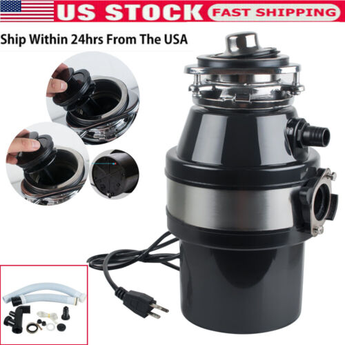 Household Food Waste Processor Kitchen Garbage Disposal Crusher Home 2600RPM USA