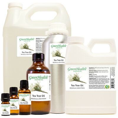 GreenHealth Tea Tree Essential Oil 100% Pure Many Sizes Free Shipping