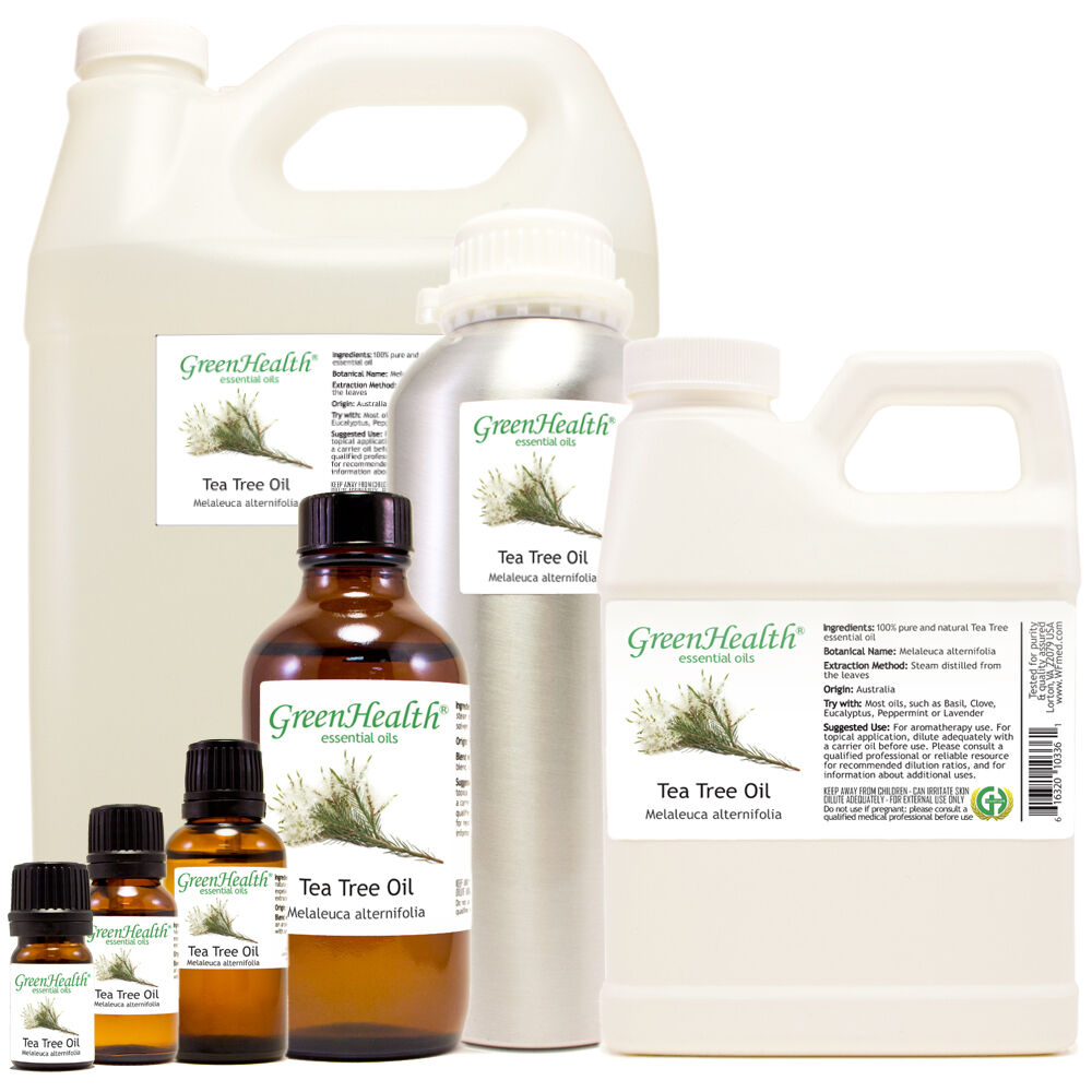 GreenHealth Tea Tree Essential Oil 100% Pure Many Sizes Free