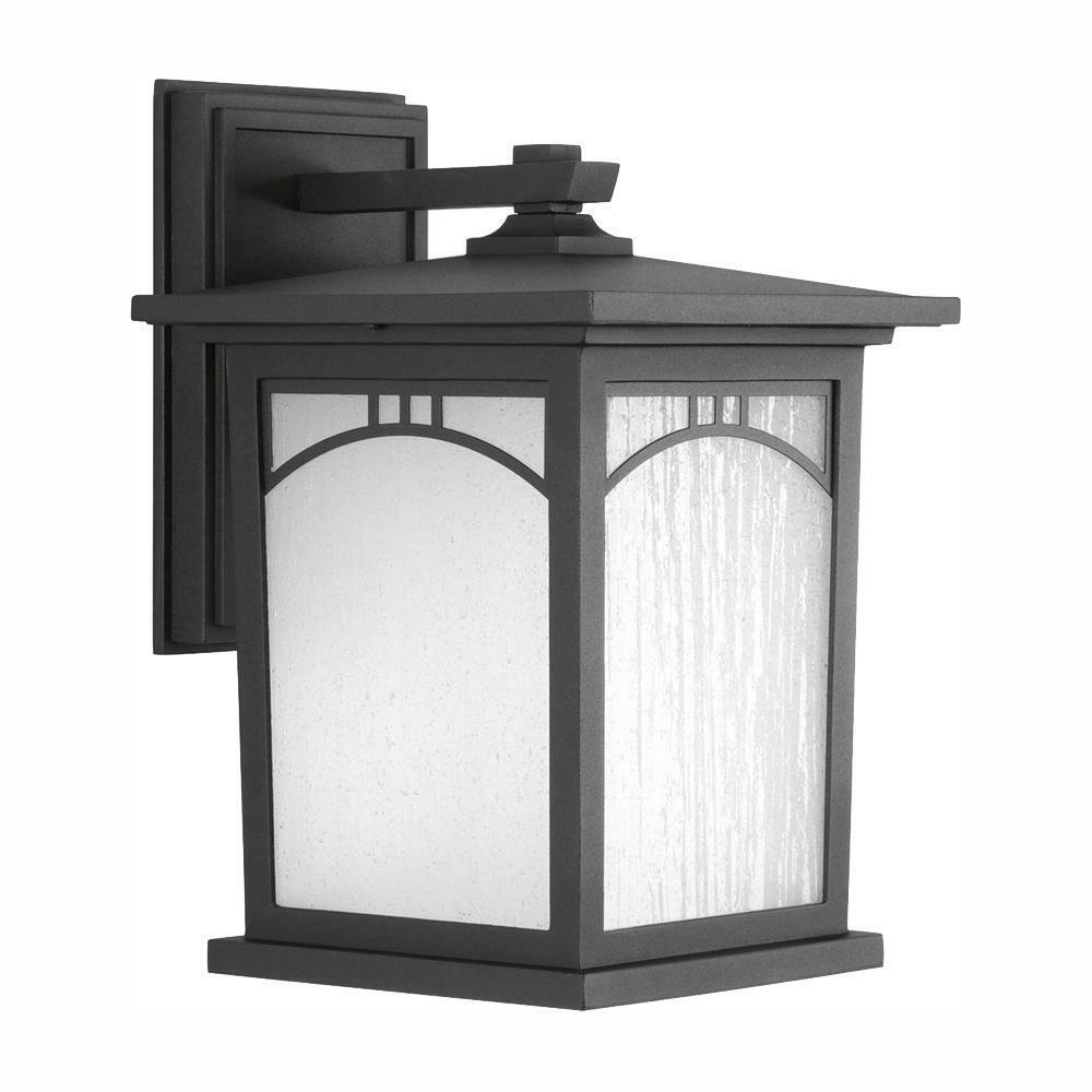 Progress Lighting LED Wall Lantern Sconce Outdoor Black Resi