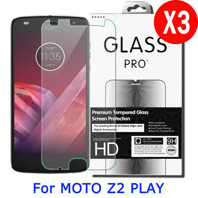 3X 9H Dear Tempered Glass Screen Protector For Motorola Moto Z2 Play Droid