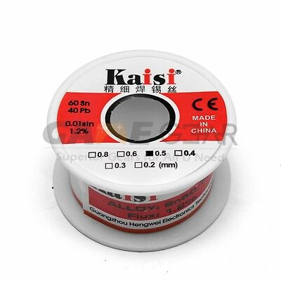 0.5mm 50g 6040 Rosin Core Flux 1.2 Tin Lead Roll Soldering Solder Wire