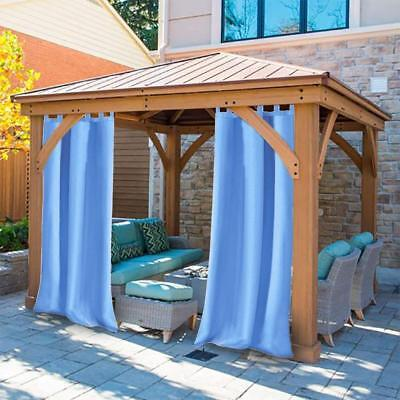 1 Pair Outdoor CURTAIN PANEL Yard Porch Blackout Sun Shade 50