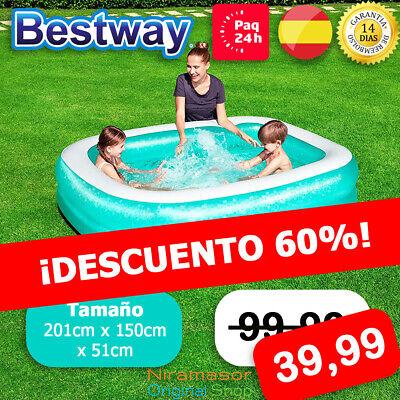 «【✅ Piscina Hinchable Desmontable Rectangular Bestway Pequeña Niños ✅ 】»