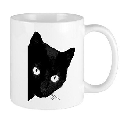 CafePress Black Cat 11 oz Ceramic Mug (164494762) Black Cat Coffee Mug