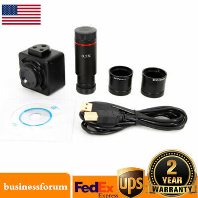 Usb 5mp Hd Microscope Digital Electronic Eyepiece Camera With C Mount Adapter Us