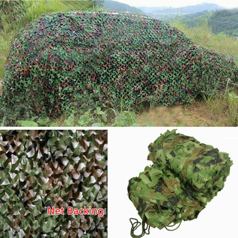 woodland camouflage camo army net hide netting