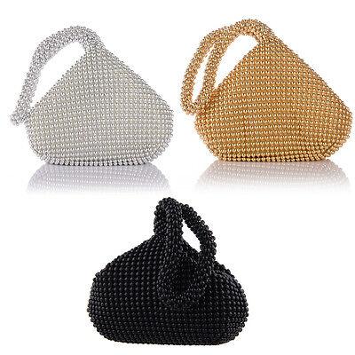 Fashion Alumium Sequins Women Evening Clutch Bag Party Wedding Purse Handbag US (Wedding Handbags)