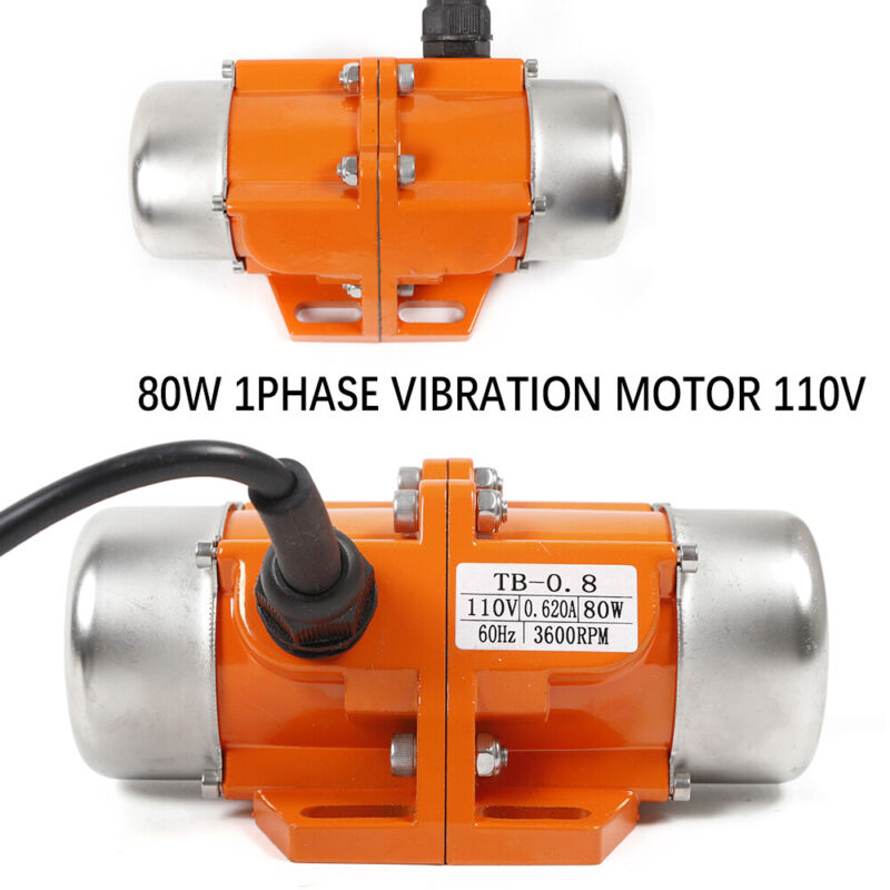 Asynchronous Vibration Motor 80W Vibrating Copper Winding Fast Heat Dissipation