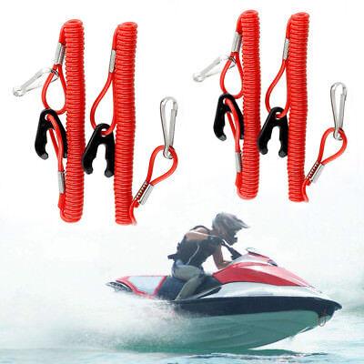 4pcs Outboard Emergency Switch Safety Tether Lanyard Cord Jet Ski Yamaha Sea Doo
