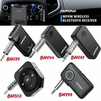 Mpow Wireless Bluetooth5.0 AUX Audio Stereo Music Car Receiver Adapter HandsFree