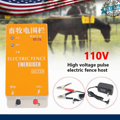 Electric Fence Energizer Charger Ranch Energy Controller High-voltage Pulse 12v