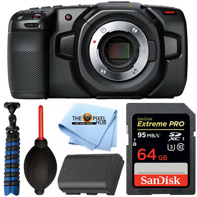 Usado, Blackmagic Design Pocket Cinema Camera 4K with LP-E6 Battery + 64GB Bundle comprar usado  Enviando para Brazil