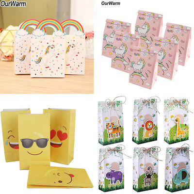 Unicorn Paper Party Bag Gift Treat Bags Popcorn Candy Box Kids Birthday Favor (Paper Popcorn Bags)