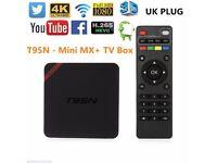 T95N Mini MX+ S905 quad-core 1GB+ 8GB 2.4GWIFI Android Smart TV Box HDMI 4K*2K
