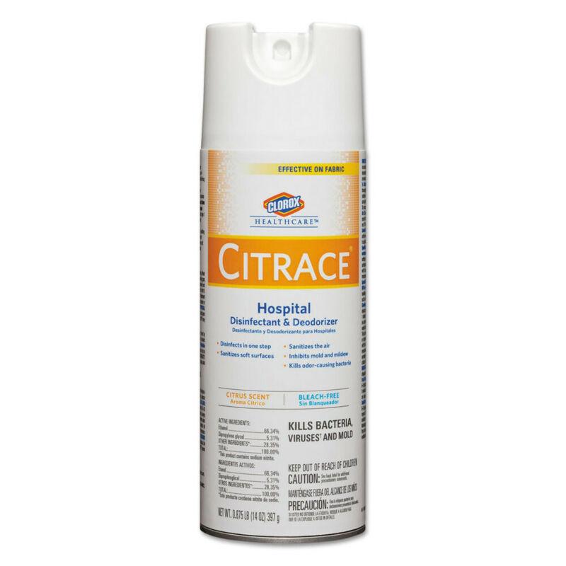 Clorox Citrace Hospital Disinfectant Citrus 14oz Aerosol 12/ctn 49100 NEW