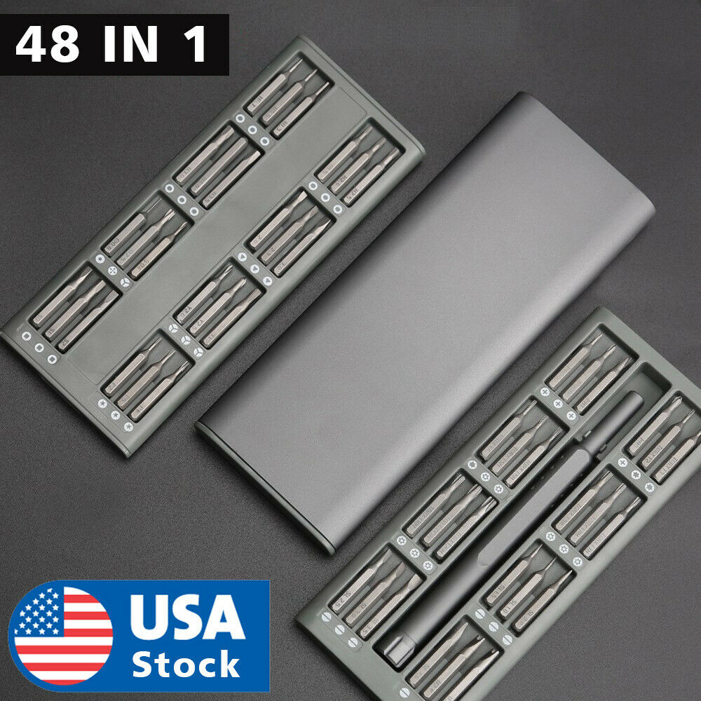 48 In 1 Precision Screwdriver Set, S2 Steel Mini Magnetic Bits, Professional Kit Hand Tools