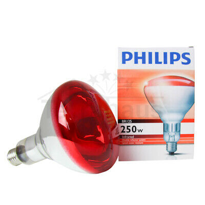 Philips Infrared Lamp BR125 250W E27 Pain Relief Medical Lamp Thermotherapy