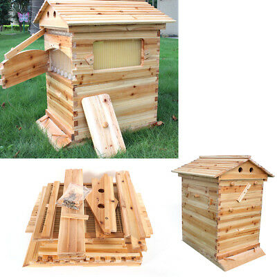 Us Beekeeping Cedarwood Super Brood Box Wooden Box For Honey Bee Hive Frames