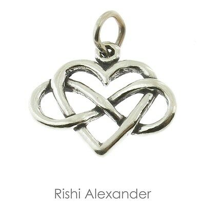 925 Sterling Silver Infinity Heart Charm American Made