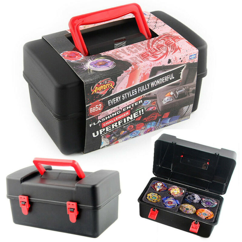Portable Beyblade Burst Gyro and Launcher Receiving Box Storage Case with Foam F