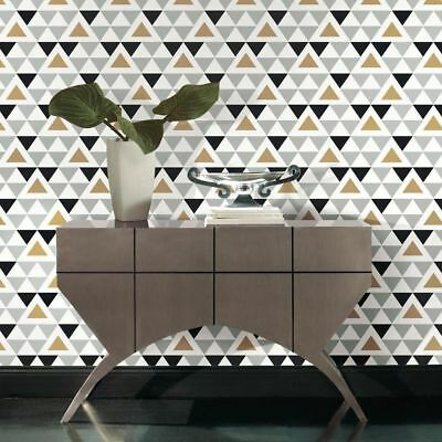 RoomMates Geometric Triangle Peel & Stick Wallpaper Home Decor Removable RMK9055