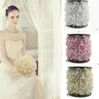 5M/60M Pearl Bead Chain Garland Wedding Centerpiece Flower/DIY Table Decoration  Diy Wedding Table