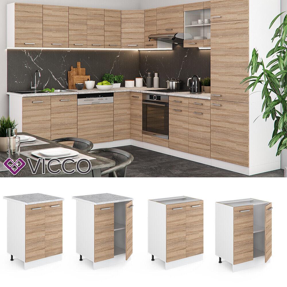 VICCO Küchenschrank Hängeschrank Unterschrank Küchenzeile R-Line Unterschrank 60 cm sonoma