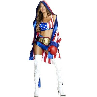 Get 'Em Boxing Champ Adult Womens Costume, 557764, Forplay](Boxing Costume Women)