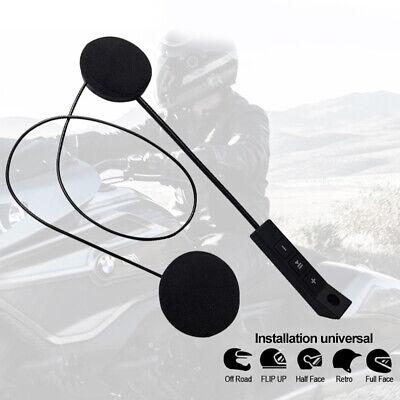 Wireless Bluetooth Headphones Motorbike Intercom Helmet Music Headset w/HD Mic