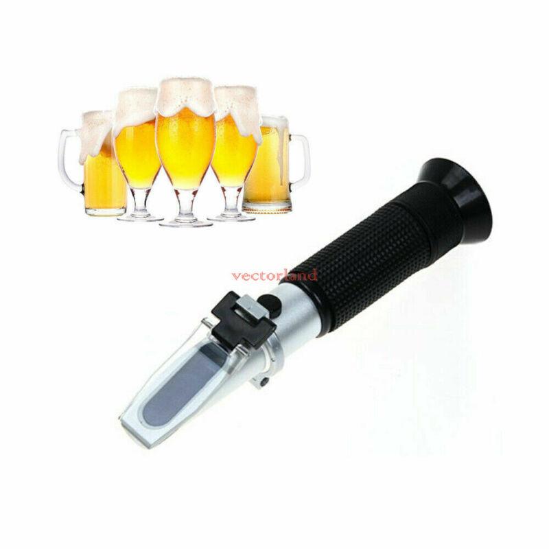 0-32% Brix Wort Handheld Refractometer Juice Beer Wine Sugar Content Tester US