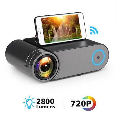 Mini LED 720P Projector Portable Wireless WiFi Multi Screen Video Beamer HDMI