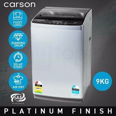 CARSON 9kg Top Load Washing Machine Home Dry Wash Automatic Washer Grey Laundry, used for sale  Shipping to Nigeria