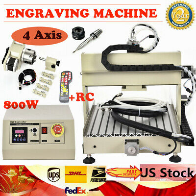 4 Axis Cnc 3040 Router 800w For Pcb Diy Drilling Engraving 3d Carving Machinerc