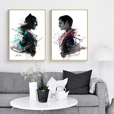 Batman Decor (Batman VS Superman Canvas Poster Art Prints Wall Painting)