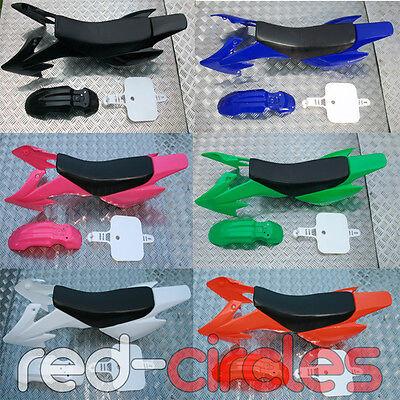 CRF50 PIT DIRT BIKE PLASTICS, MUDGUARD, SEAT ETC 50cc 110cc 125cc 140cc PITBIKE