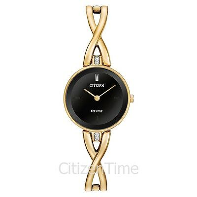 -NEW- Citizen Ladies Silhouette Eco-Drive Watch EX1422-54E
