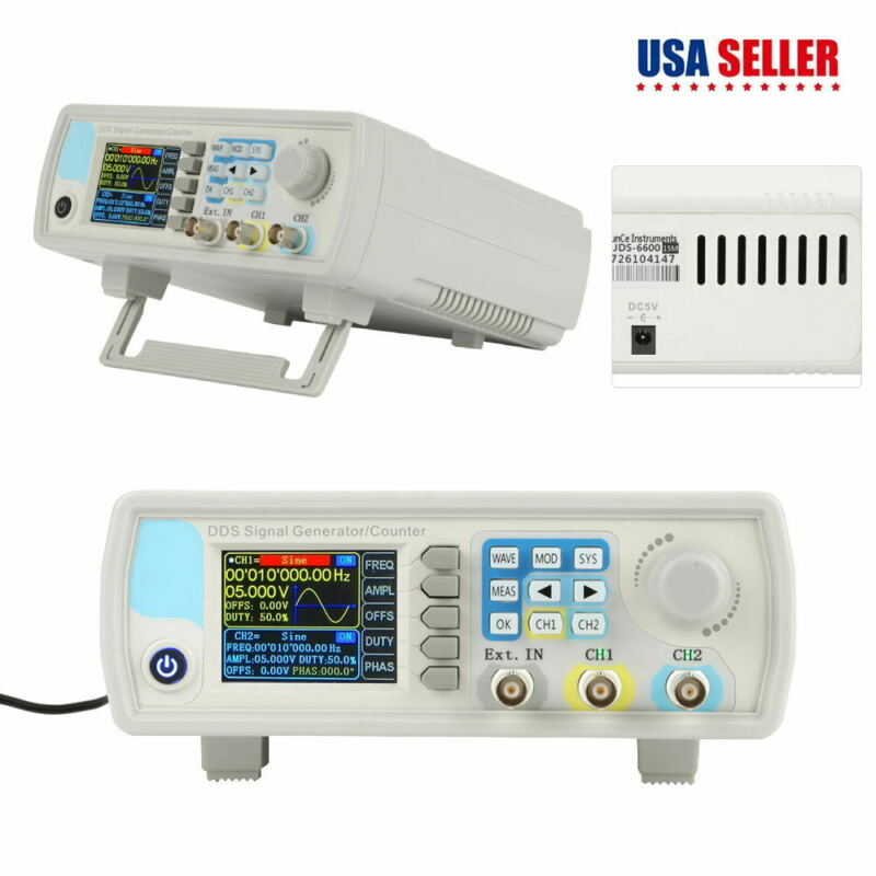 JDS6600 15MHz Dual Channel Arbitrary Waveform Signal Generator Pulse Signal