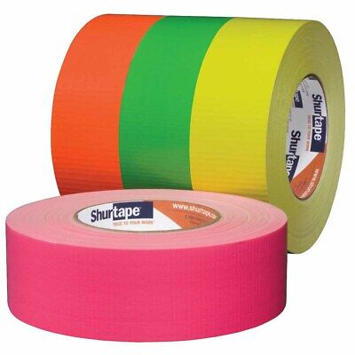 Shurtape 139587 Pc 619 2 Cloth Duct Tape Fluorescent Yellow 48mm X 55m