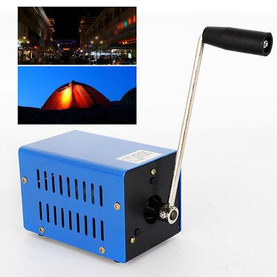 Hand Crank Power Generator - Hand Shake USB Crank Power Generator Emergency Phone Charger Camping Survival US