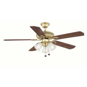 Ceiling Fan Light Kit Replacement Parts Hampton bay ceiling fan light kit ebay new hampton bay glendale 52in lrg room flemish brass ceiling fan wlight kit audiocablefo