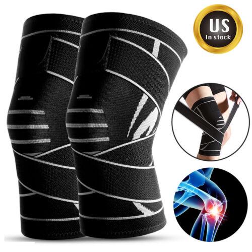 Sport Adjustable Knee Brace Support Compression Sleeves Wrap