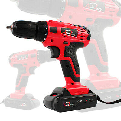 Autojare 3/8'' Cordless Drill set driver drill powerful  tool electric drill 20V, used for sale  USA