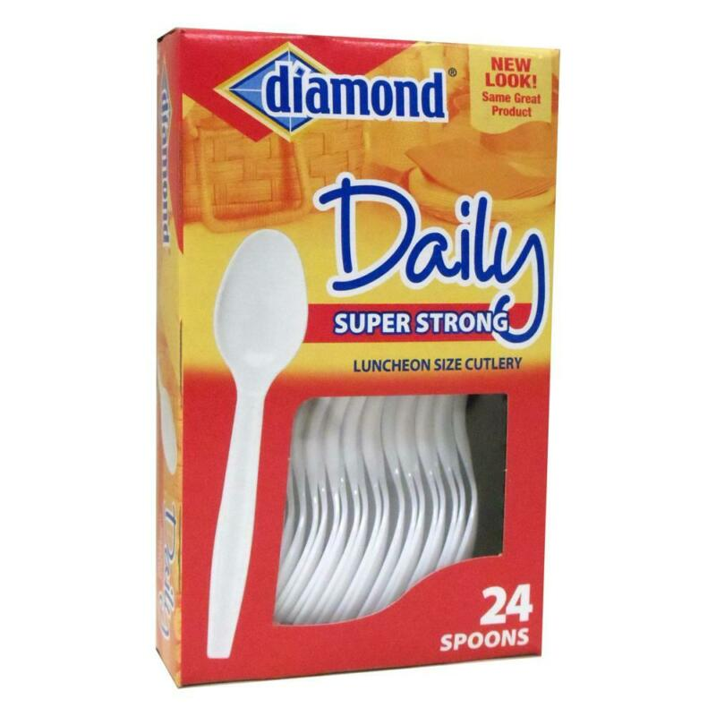 Forster Diamond Plastic Spoons, 24 Count, 1 Pack Each, By Forster