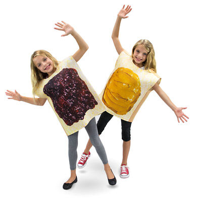 Peanut Butter And Jelly Pair Siblings Twins Couples Kids Children's Costumes Set - Kids Couples Costumes