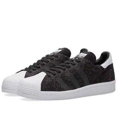 Adidas Originals Superstar 80S Prime Knit Low Men Shoes Black S75844 Sz 14 New