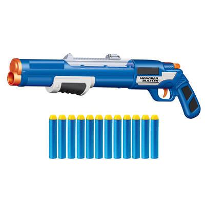 New Buzz Bee Toys Air Warrior Monorail Pump Action Shotgun Long Distance Blaster