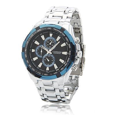 CURREN Stainless steel Date Waterproof Men's Analog Digital Quartz Wrist Watch